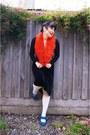 Asos-tights-sportsgirl-scarf-miss-shop-top-novo-heels-thrifted-skirt