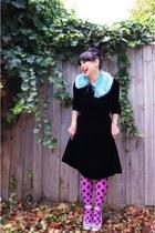 Happy Tights tights - vintage etsy dress - asos scarf - Wittner pumps