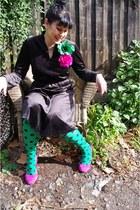 OKOK tights - vintage eBay dress - Jo Mercer heels - Brooches Lovisa accessories