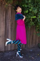 Happy Socks tights - Leona Edmiston dress - Sportsgirl scarf - Wittner heels