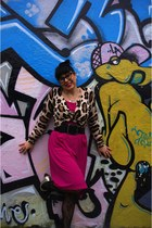 H&M cardigan - Leona Edmiston dress - Myer tights - Topshop heels