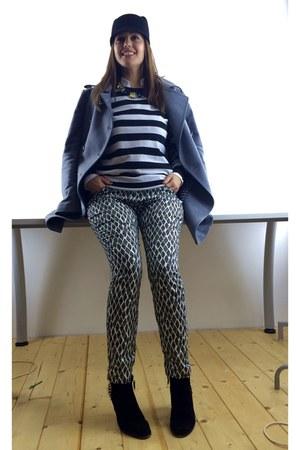ankle boots Zara boots - wool cinque coat - Zara hat - Zara sweater