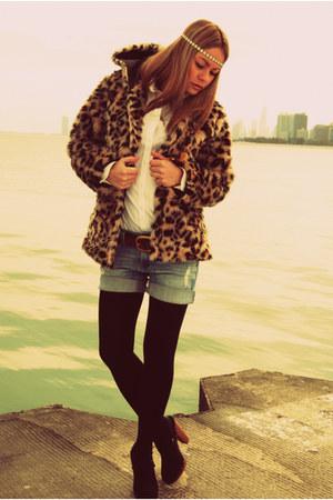 Soho NY jacket - Ralph Lauren shirt - jeans Miss Sixty shorts - thrifted vintage