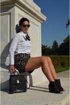Topshop shorts - vintage bag - Pimkie wedges - Forever21 necklace