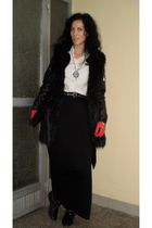 custom made skirt - vintage - Terranova jacket - H&M vest - leather random brand