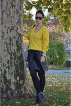 vintage sweater - H&M shoes - Ebay bag - vintage skirt