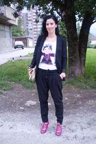 H&M accessories - Zara blazer - H&M purse - DIY shirt - Ebay shoes - Zara pants