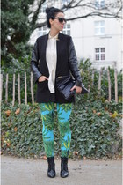 H&M shoes - H&M jacket - Versace for H&M leggings