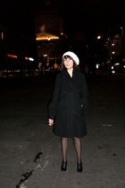 DKNY coat - H&M accessories - H&M scarf - JFK shoes - vintage aigner purse - fal