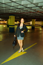 Mango jacket - Zara t-shirt - H&M skirt - Zara shoes