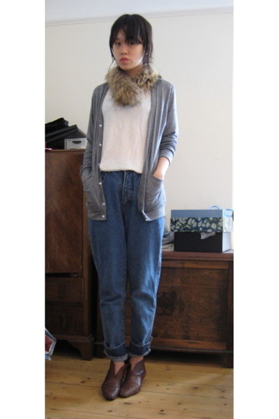 American Apparel coat - H&M t-shirt - Mums jeans - charity shop shoes