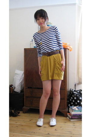 agnes b shirt - American Apparel skirt - Repetto shoes - charity shop belt