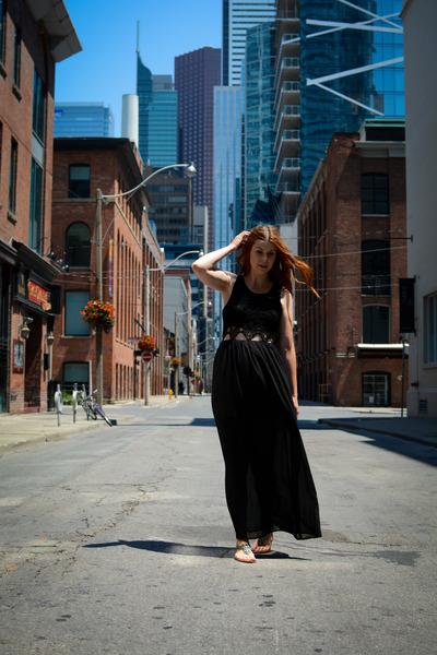 black maxi dress Sirens dress - black Ardene sunglasses - gray Ardene sandals