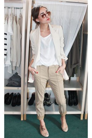 Zara blazer - Zara pants - Zara shoes - H&M top