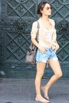 Topshop - 501 Levi shorts - Zara shirt - Deena&Ozzy