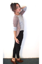 black SilenceNoise pants - silver Old Navy sweater - SilenceNoise cardigan - Ste