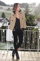 beige Old Navy jacket - black SilenceNoise jacket - black wilfred top - black De