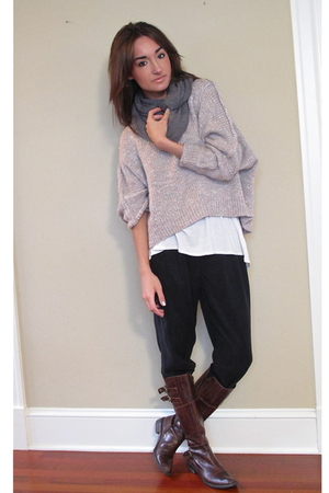 wilfred pants - Talula sweater - Frenchi shirt - H&M scarf