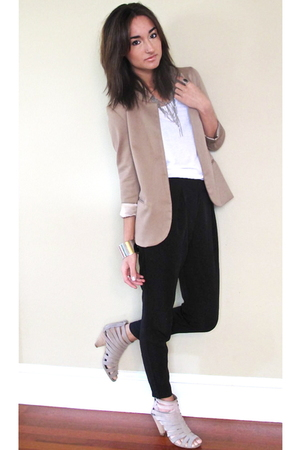 SilenceNoise from UO blazer - Zara shoes - American Apparel shirt