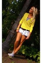 yellow NY&CO sweater