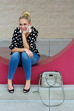 kate spade bag - Target jeans - H&M earrings