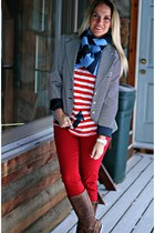 navy Limited blazer - red Forever 21 pants