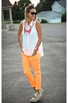 orange Roxy jeans