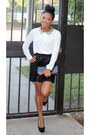 Off-white-forever-21-shirt-black-pleated-forever-21-skirt