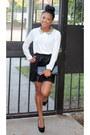 Off-white-forever-21-shirt-black-pleated-forever-21-skirt