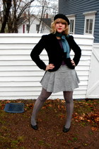 purple Kenzie shirt - heather gray joe fresh style skirt - black Hot Kiss blazer