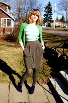 navy Spring boots - navy faux-leather le chateau jacket - army green joe fresh s