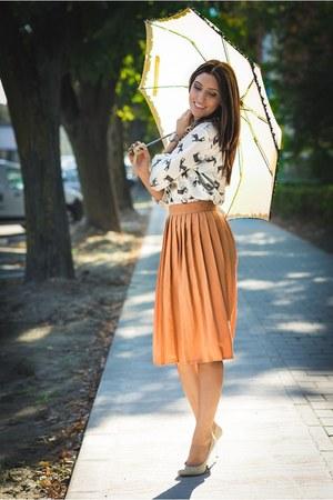 Choies shirt - carrot orange Choies skirt