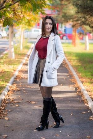 Sheinside coat - Choies blouse - Choies skirt