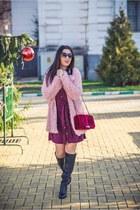 Michael Kors boots - AX Paris dress - Sheinside coat