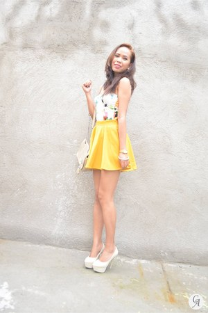 yellow aashta skirt