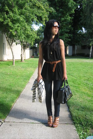 j jill petite top - Wax jeans - unknown belt - cynthia vincent for target shoes