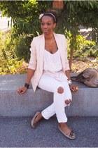 camel Mocassins minnetonka shoes - white Jeans jeans - peach Blazer blazer - neu