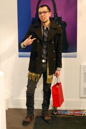 coat - jeans - J Lindberg shirt - Gucci belt - Philip Sparks boots