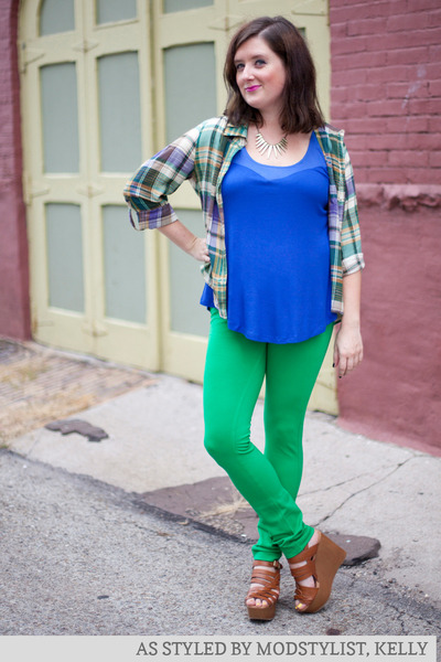 modcloth pants - modcloth top - modcloth top - modcloth necklace