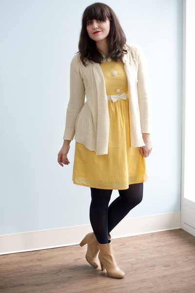 light yellow yellow Fair and Lemon Square Dress dress