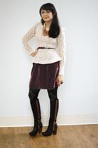 puce velvet Kiss and Velvet Skirt skirt