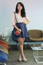 modcloth skirt - modcloth bag - modcloth wedges