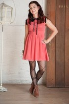 London Collar-ing Dress dress - ankle boots Touch of Folklore Bootie boots
