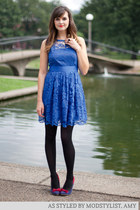 modcloth dress - modcloth tights - modcloth pumps - modcloth ring