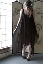 light pink headband modcloth accessories - black modcloth dress