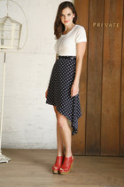 red red Soho Shuffle Wedge wedges - navy polkadots Spot from Afar Dress dress