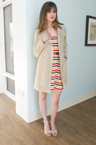 ruby red striped Lauren Moffatt Learning to Crochet Dress dress