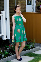 green floral mystic dress