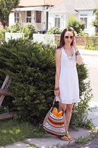 orange unknown purse - white white cotton Lace Affair dress