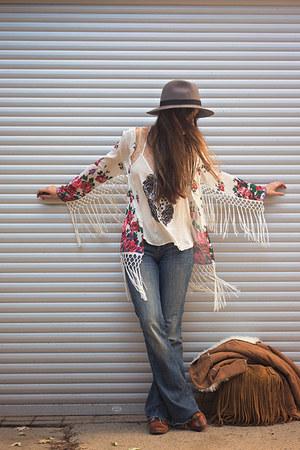 white kimono Sheinside jacket
